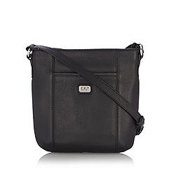 O.S.P OSPREY - Black leather cross body bag