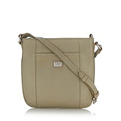 O.S.P OSPREY - Grey leather cross body bag