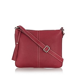 O.S.P OSPREY - Red leather cross body bag