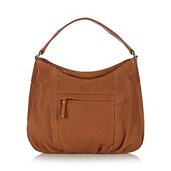 O.S.P OSPREY - Tan ruched leather shoulder bag