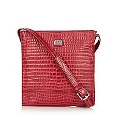 O.S.P OSPREY - Red mock croc square cross body bag