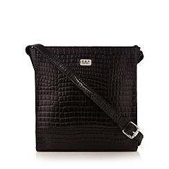 O.S.P OSPREY - Black mock croc square cross body bag