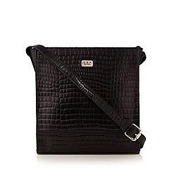 O.S.P OSPREY - Black mock croc square cross body bag