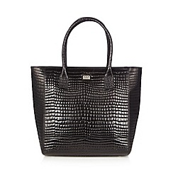 O.S.P OSPREY - Black mock croc large tote bag