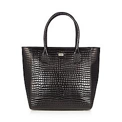 O.S.P OSPREY - Black mock croc large tote bag