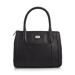 O.S.P OSPREY - Black small leather tote bag