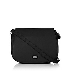O.S.P OSPREY - Black mock croc cross body bag