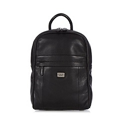 O.S.P OSPREY - Small black leather backpack