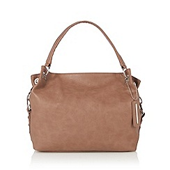 Red Herring - Taupe stud detail shoulder bag