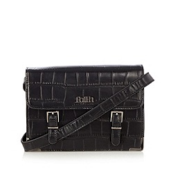 Faith - Black croc textured mini satchel