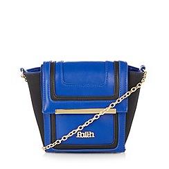 Faith - Bright blue panelled mini cross body bag