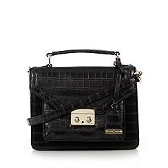 J by Jasper Conran - Designer black croc satchel