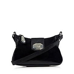 Star by Julien MacDonald - Designer black lizard trim cross body bag