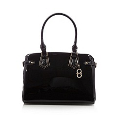 The Collection - Black patent metal buckle tote bag