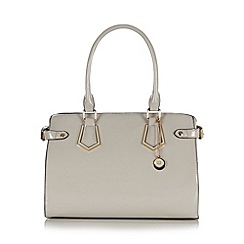 The Collection - Grey patent three compartment grab bag