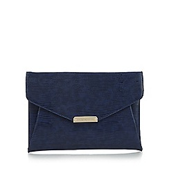 J by Jasper Conran - Designer navy patent clutch bag