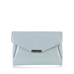 J by Jasper Conran - Designer light blue patent clutch bag