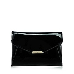 J by Jasper Conran - Designer black patent clutch bag