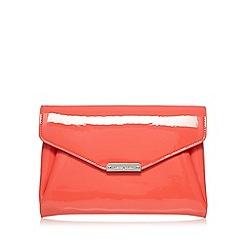 J by Jasper Conran - Designer coral patent clutch bag