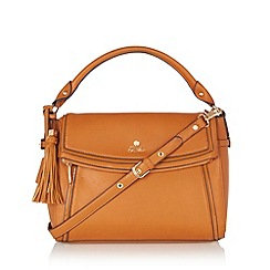 Sacha - Tan zipped flap over handbag