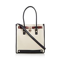 Call It Spring - Natural 'Pommelo' colour block shopper bag