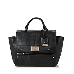 Lipsy - Black winged textured tote bag