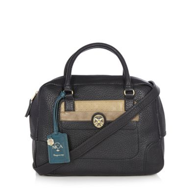 Nica Black mock croc gold broach grab bag - One Size.  Size - One Size