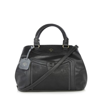 Nica Black faux leather zip fastening grab bag - One Size.  Size - One Size