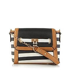 Call It Spring - Black 'Dumler' striped satchel bag