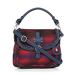 Mantaray - Navy checked textured satchel