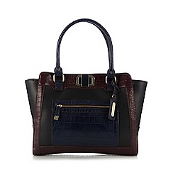 J by Jasper Conran - Designer black mock croc grab bag