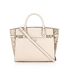 Star by Julien MacDonald - Designer pink snakeskin panel tote bag