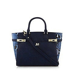Star by Julien MacDonald - Designer navy double twist lock tote bag