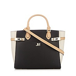 Star by Julien MacDonald - Designer black twist lock trim tote bag