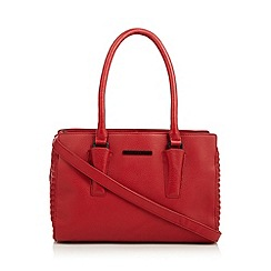 Todd Lynn/EDITION - Designer red leather stitched tote bag