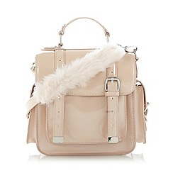 H! by Henry Holland - Designer pale pink patent buckled satchel