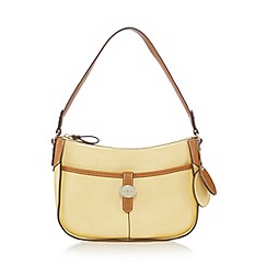 J by Jasper Conran - Designer light yellow tab underarm shoulder bag