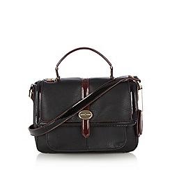 J by Jasper Conran - Designer black patent tab satchel