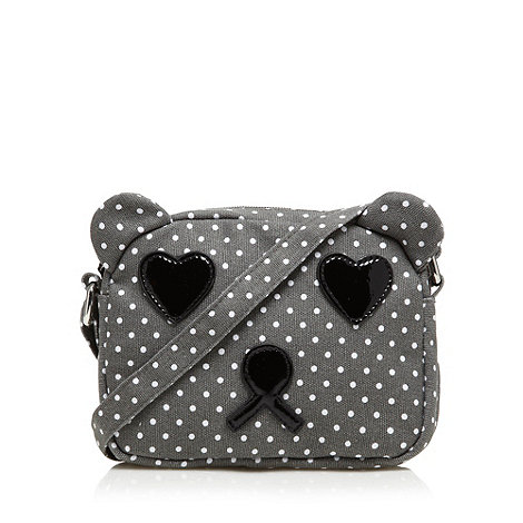 H! by Henry Holland - Designer grey spotted bear cross body bag