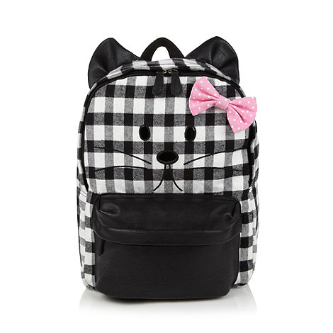 H! by Henry Holland - Designer grey checked mouse print backpack
