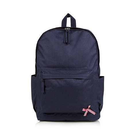 Red Herring - Navy zip around backpack