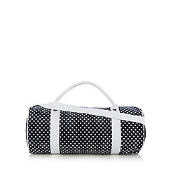 Iris & Edie - Navy spotted holdall bag