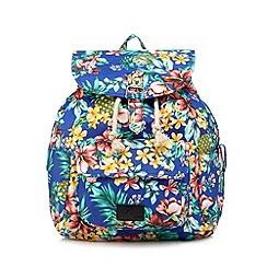H! by Henry Holland - Designer navy tropical print backpack