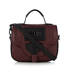 H! by Henry Holland - Designer maroon pebble grain cross body bag