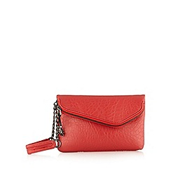 H! by Henry Holland - Designer red mock croc clutch bag