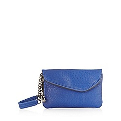 H! by Henry Holland - Designer blue mock croc clutch bag