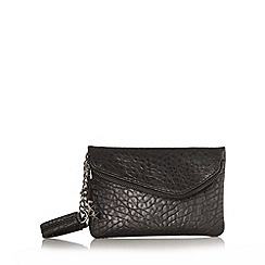 H! by Henry Holland - Designer black mock croc clutch bag