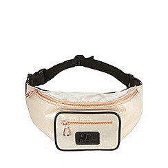 H! by Henry Holland - Designer natural metallic bumbag