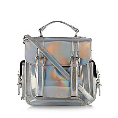 H! by Henry Holland - Designer silver iridescent satchel bag