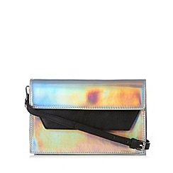 H! by Henry Holland - Designer silver iridescent cross body bag